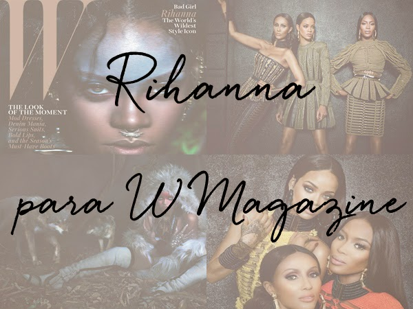 rihanna para w magazine