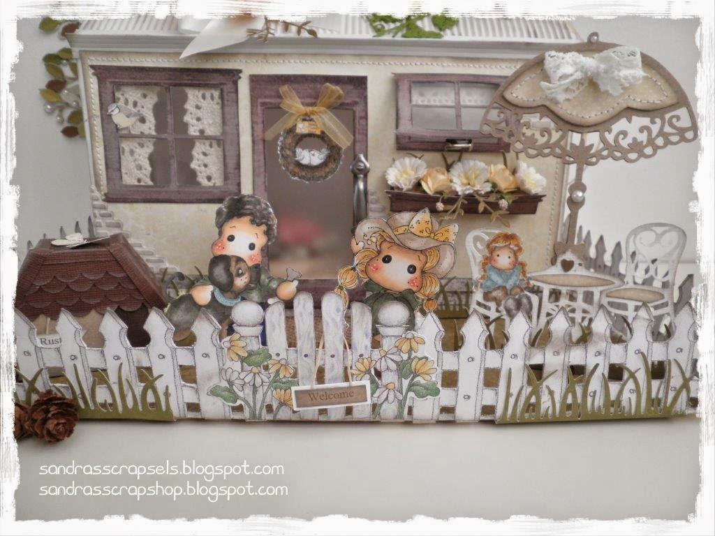 Sandra's Scrapsels: Vakantiehuisje patroon / Cottage template