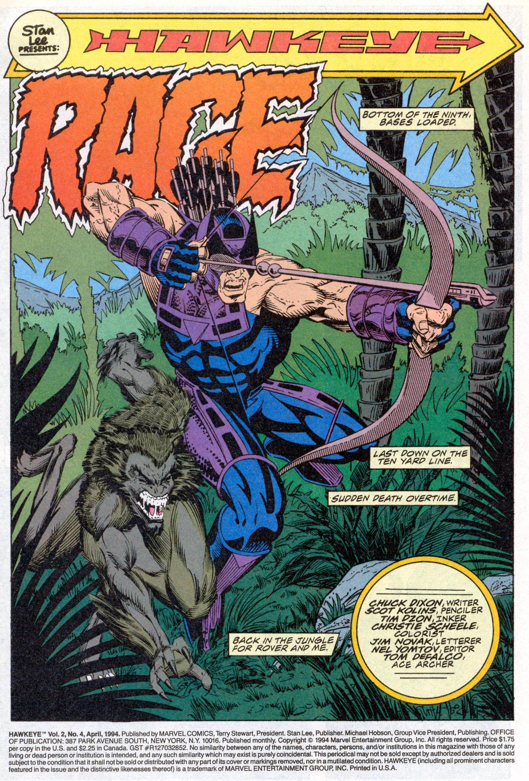 Hawkeye (1994) Issue #4 #4 - English 2