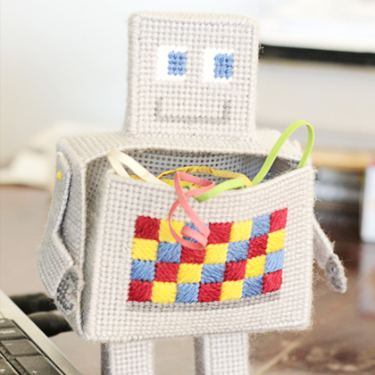 How To Make Robot Craft Desk Organizer