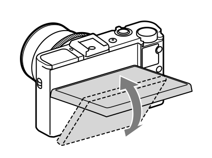 Immagine del monitor basculante della Sony RX100 MkII