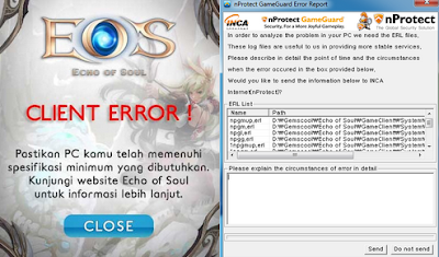 Solusi Game Master EOS Indonesia Perihal Client Error dan Game Guard Error