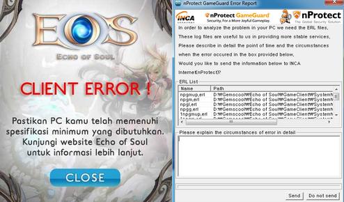 Solusi Game Master EOS Indonesia Perihal Client Error dan Game Guard Error