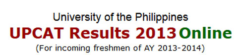 2013 UPCAT Results Released Online