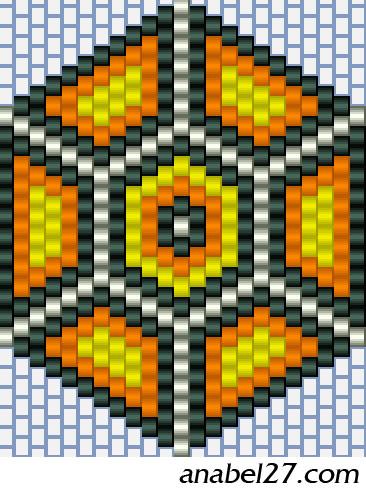 Кирпичное / мозаичное плетение