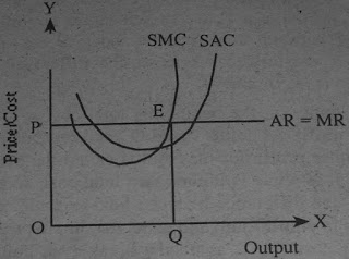 marginal cost marginal revenue curves to illustrate maximum profits under perfect conditions Total revenue for a perfectly competitive firm is a straight line sloping up the slope is equal to the price of the good total cost also slopes up, but with some curvature at higher levels of output, total cost begins to slope upward more steeply because of diminishing marginal returns the maximum profit will occur at the.