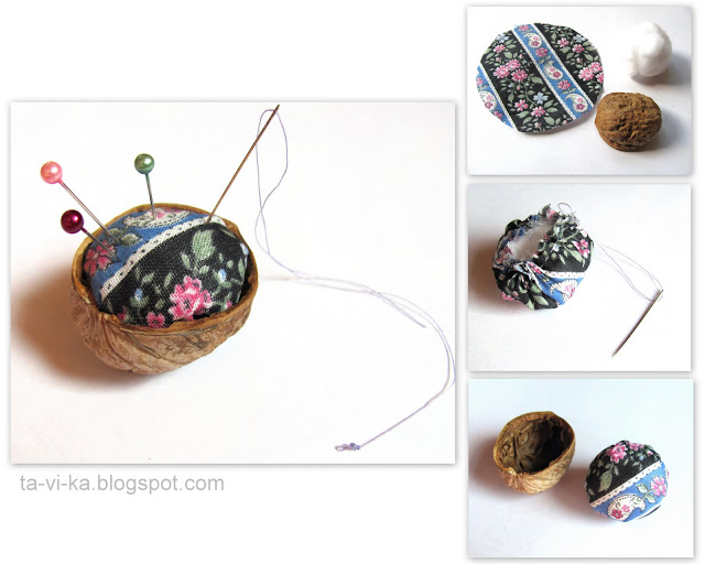 игольница из грецкого ореха мастер-класс needle holder walnut