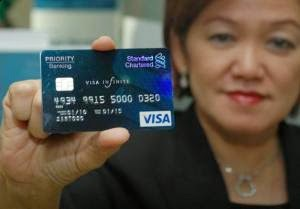 Kartu kredit Visa, Kartu kredit Standard Chartered