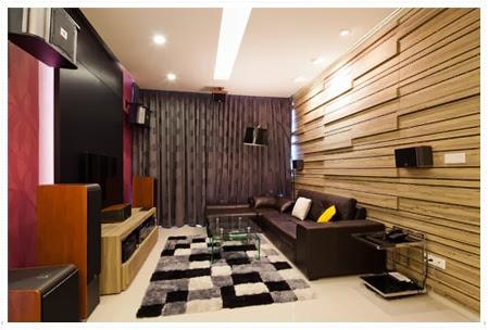 Modern living room in The Vista condo