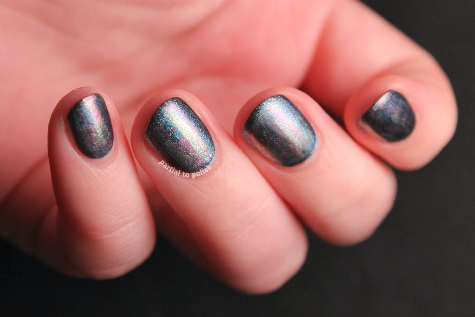 Brushstroke Distressed Multichrome Nail Art