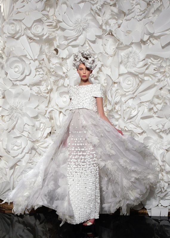 For The Love Of Paper Chanel Couture 2009 Runway Inspiration Weddings