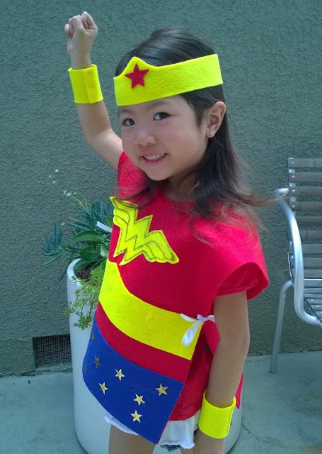 no sew kids wonder woman costume