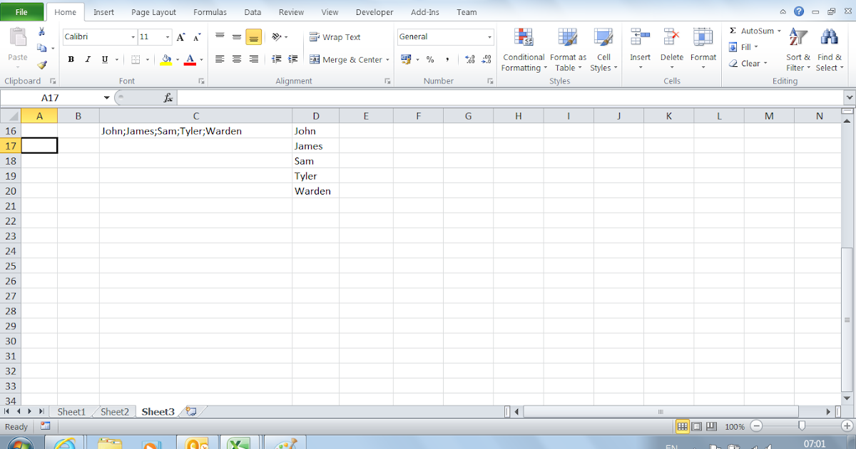 VBA Tips & Tricks: How to Split Text in a Cell to Multiple Cells ...