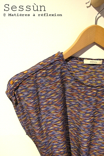 Robe soie Sessun bleu soldes vêtements Kalahari