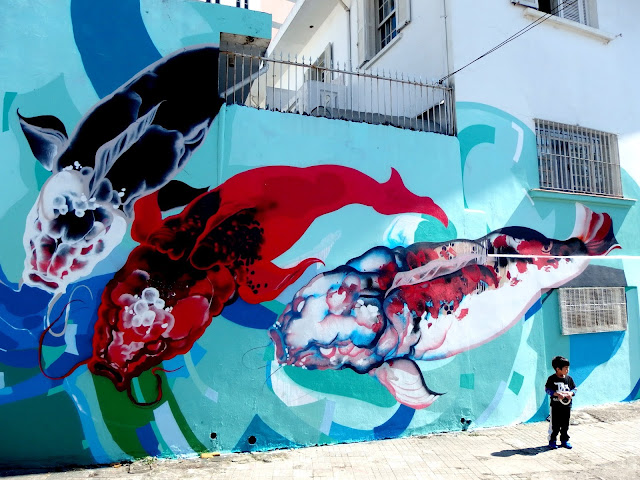 Brazilian Street Artist Titi Freak Newest Urban Mural In Sao Paulo, Brazil.