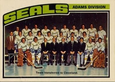 california seals 1976-77 o-pee-chee hockey card