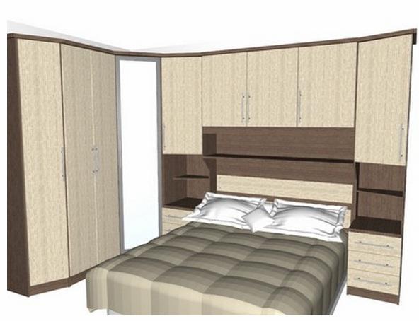 Quarto Casal Planejado Apartamento ~ AMBIENTE IDEAL Dormit?rios com cama embutida