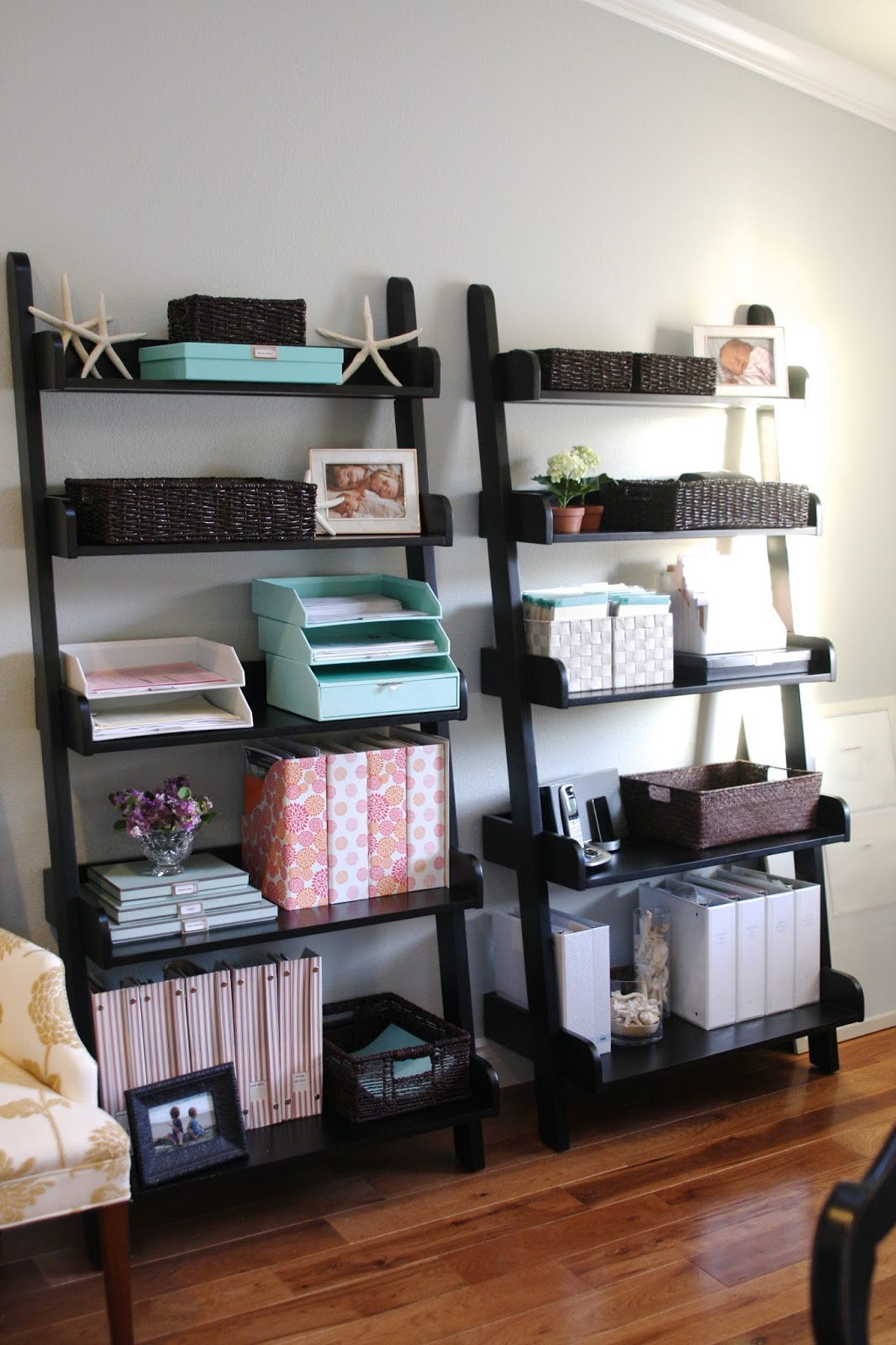 simply organized home office with martha stewart simply organized. Black Bedroom Furniture Sets. Home Design Ideas