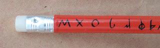 Un lápiz para escribir palabras