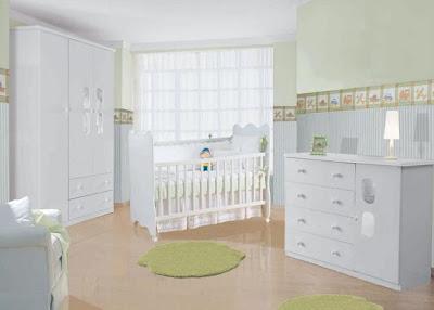 quarto para bebê, neutro branco