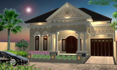 Rumah Klasik Modern Elite Satu Lantai Terbaru Saat Ini