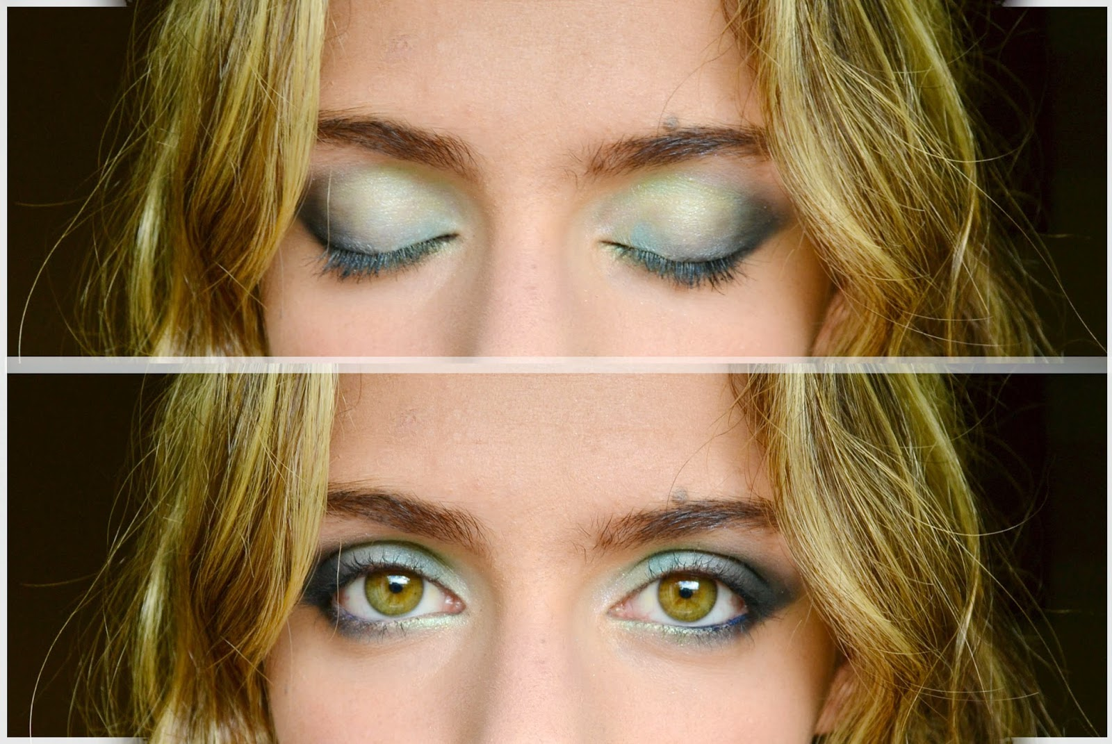 Blue eye shadow, fashionable for green eyes