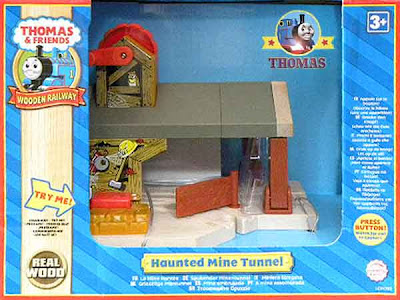 LC99395 Wooden Thomas the tank toy Haunted mine railway tunnel ghost-train Percy the small engine