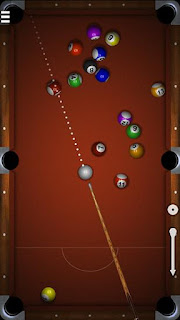 Screenshots of the Micro pool for Android tablet, phone.