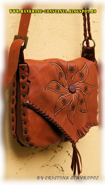 leather bag - orange.