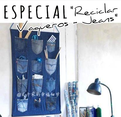 Un delantal DIY reciclando pantalones vaqueros
