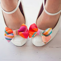 Preppy, plaid bow shoes