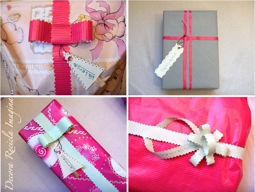 Recicla Inventa: Cómo hacer lazos y moños para regalos con papel ...