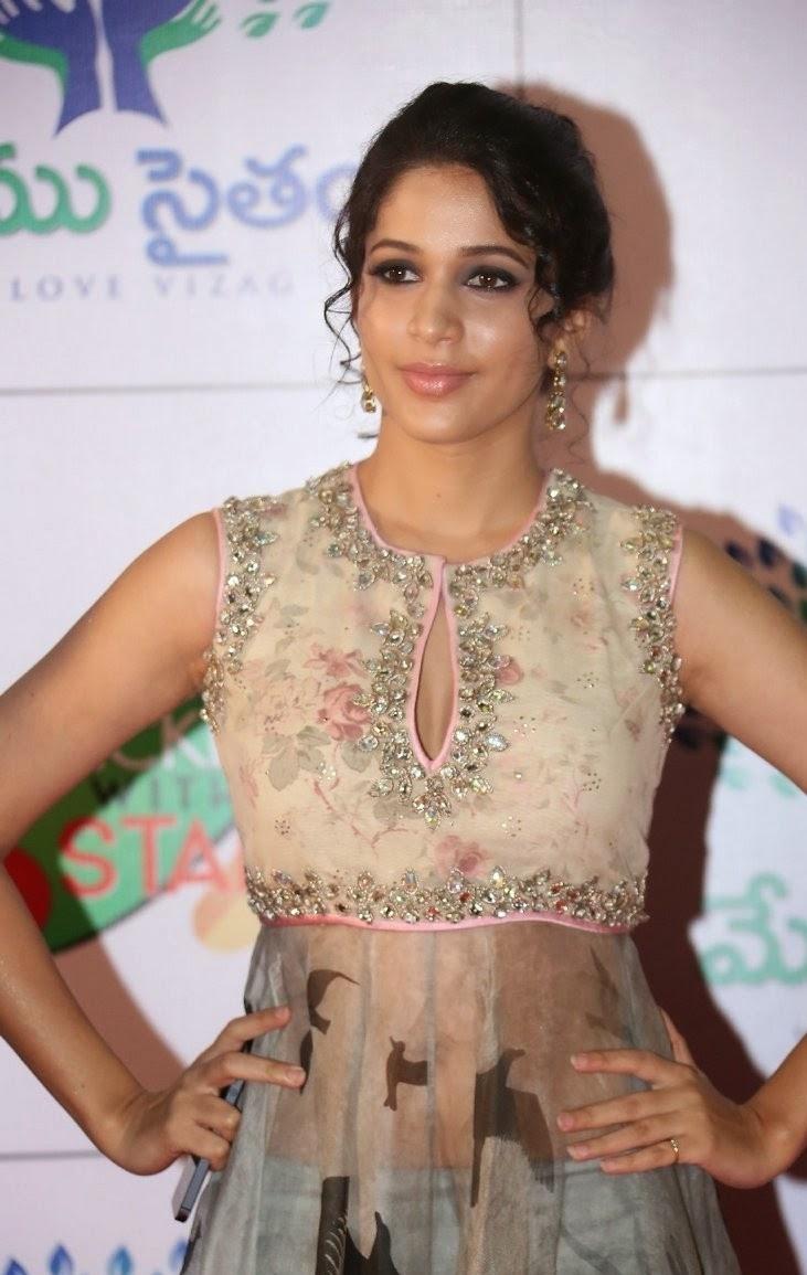 Lavanya Tripathi in Long Transparent gown at Memu Saitam Dinner with Stars Red Carpet