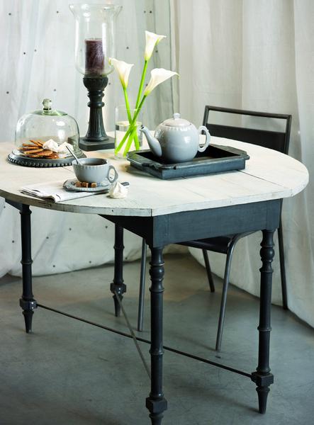 Sweety homes mesas de madera blanca for Mesa comedor blanca y madera
