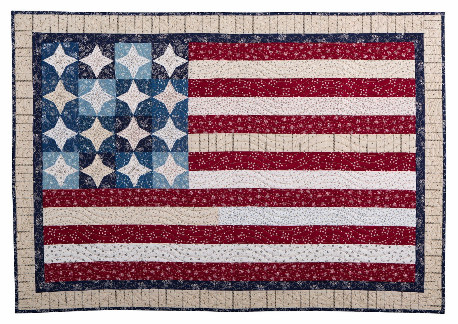 Inspired by Fabric: Stars & Stripes : stars and stripes quilt - Adamdwight.com