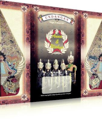 Undangan Wayang Pandawa, Undangan Batik Bekasi, Undangan Wayang Bekasi