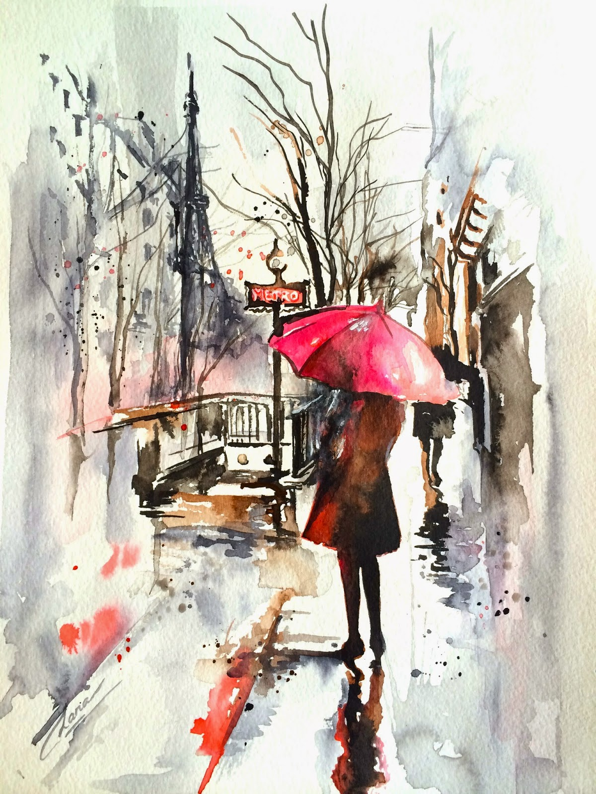 watercolour art, top handmade gifts