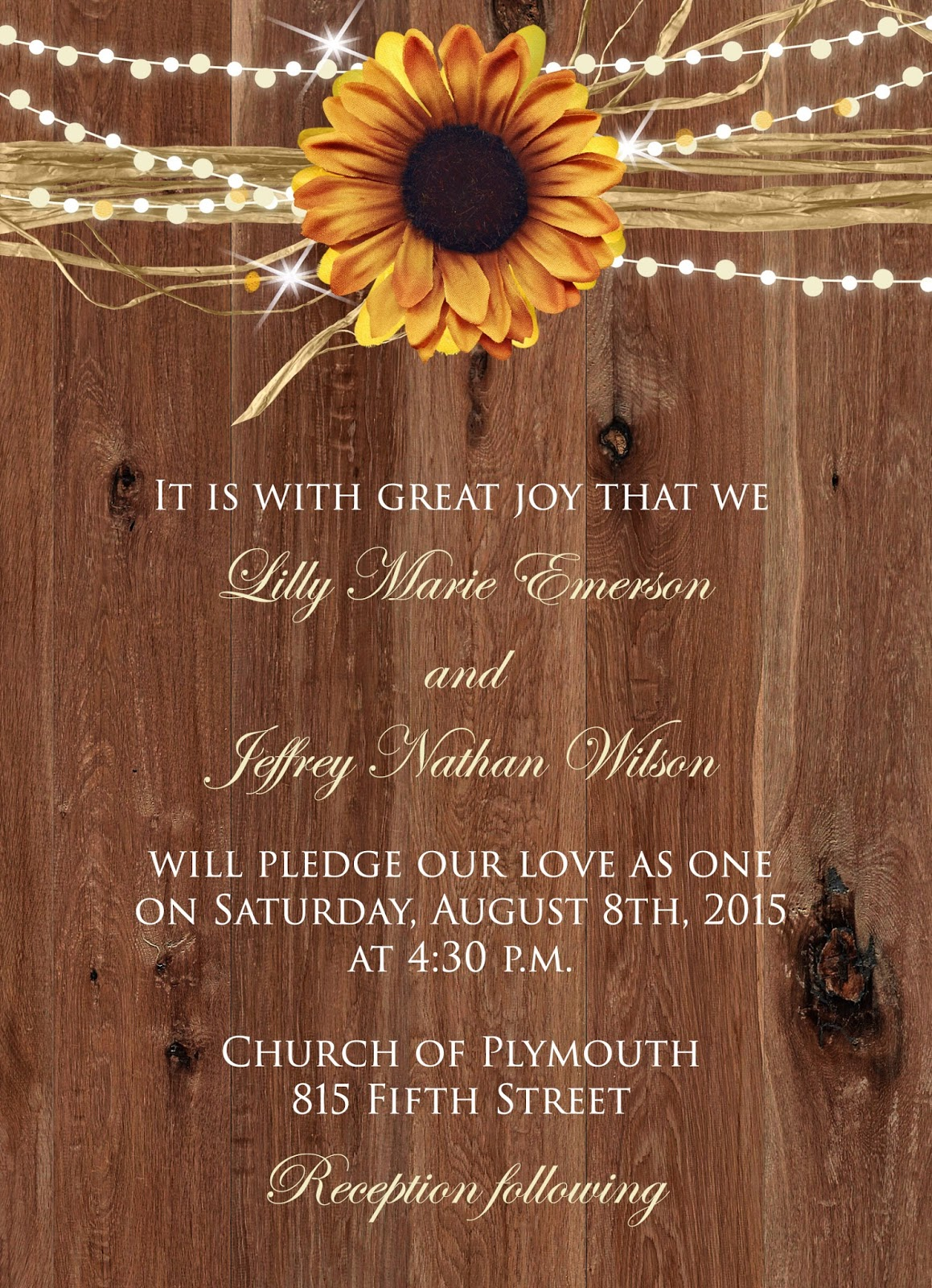 Sugar and Spice Invitations Sunflower Wedding InvitationsFall