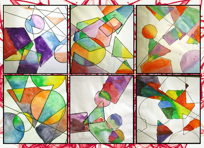 Artisan des arts geometric overlapping shapes for Artists who use shapes in their paintings