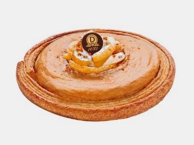 Chez Dalloyau,  Yann Brys  nous propose une galette pomme-caramel très gourmande