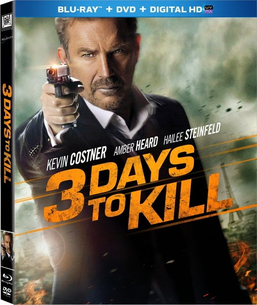 3 Days to Kill 2014 Extended Cut Hindi Dubbed Dual Audio BRRip 300mb ESub