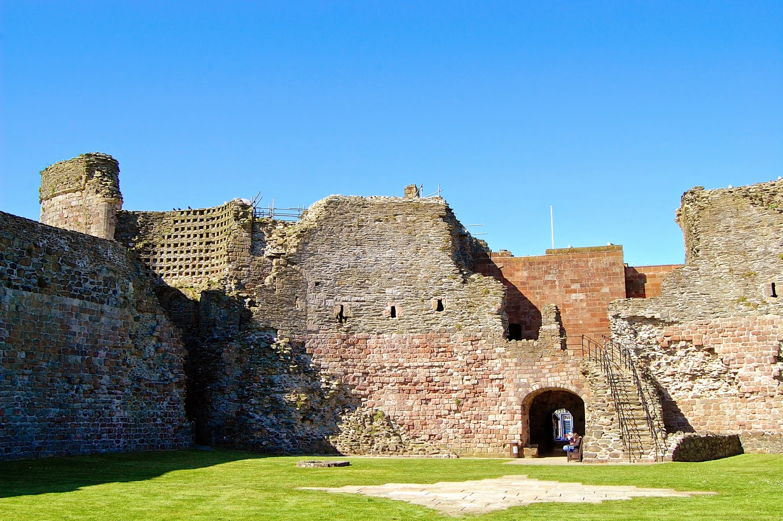Barren interior of Rothesay Castle