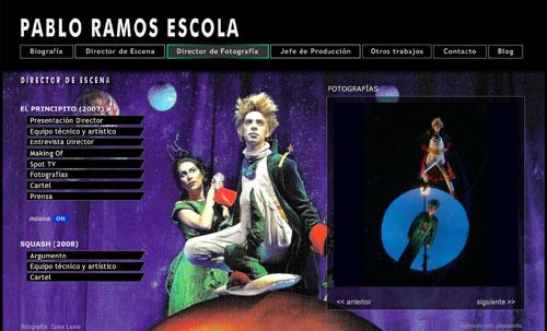 ver página web de Pablo Ramos Escola (jefe de producción, director teatral, director de fotografía)