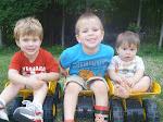 Weston 5, Caleb 3, Tyson 1