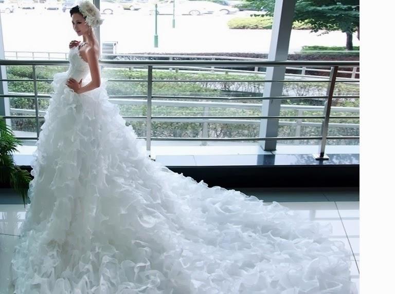 Vestido de novia muy largos