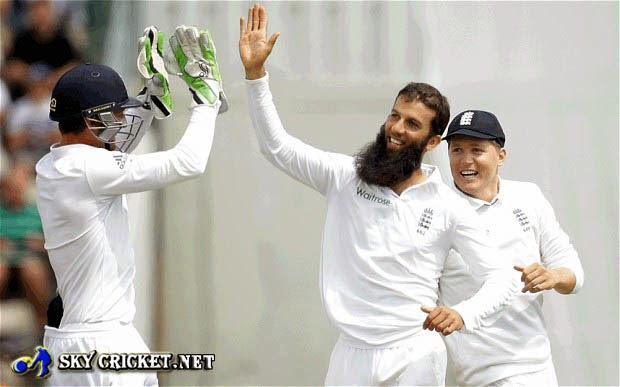 Moeen Ali 4 for 39 against India
