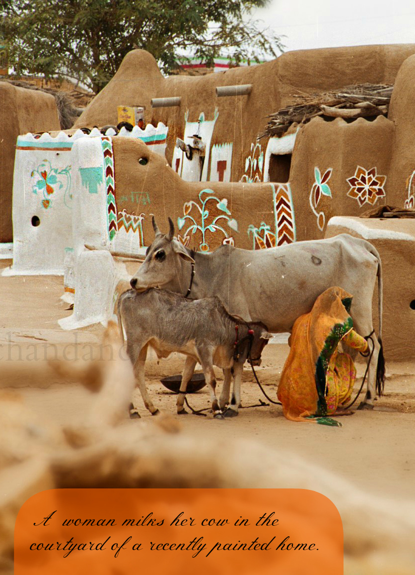 Girl about home the way we live mud houses of jaiselmer
