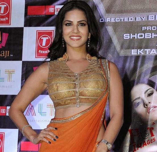 Sunny Leone super hot in orange saree