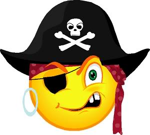 Pirate emoticon for facebok chat