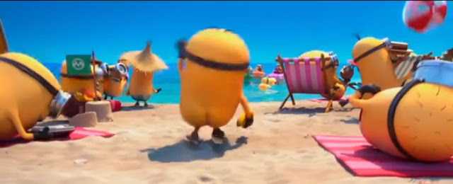 Despicable me 2 minions beach